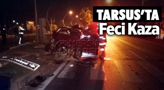Tarsus'ta Trafik Kazası 2 Yaralı