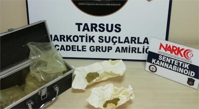 Mersin Tarsus Sanayi Sitesinde Park Halinde Duran Araç Torpidosundan ve İçerisindekilerin Üzerinden Uyuşturucu Madde Çıktı