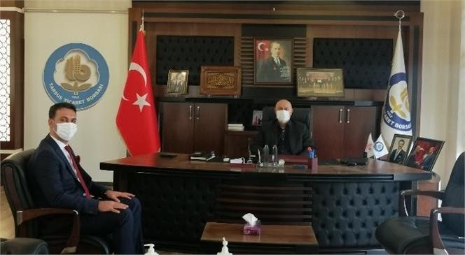 SGK Müdürü Metin, Tarsus Ticaret Borsası Başkanı Kaya'yı Ziyaret Etti