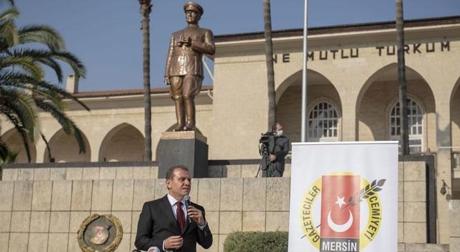 Başkan Seçer, 10 Ocak Çalışan Gazeteciler Günü Çelenk Sunma Törenine Katıldı