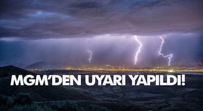 Meteorolojik Uyarı! Doğu Akdeniz'deki Kuvvetli Yağışlara Dikkat!