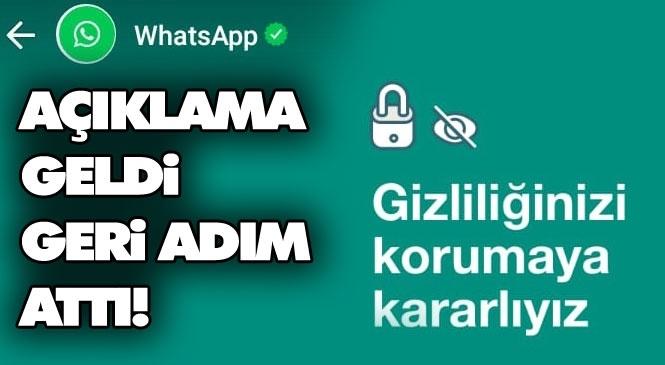 Whatsapp Geri Adım Attı! Whatsapp Kullananlar Dikkat; Güvenlik İle Alakalı Sözleşme Son Onay Tarihini 8 Şubat'tan 15 Mayıs Tarihine Ertelediğini Duyurdu