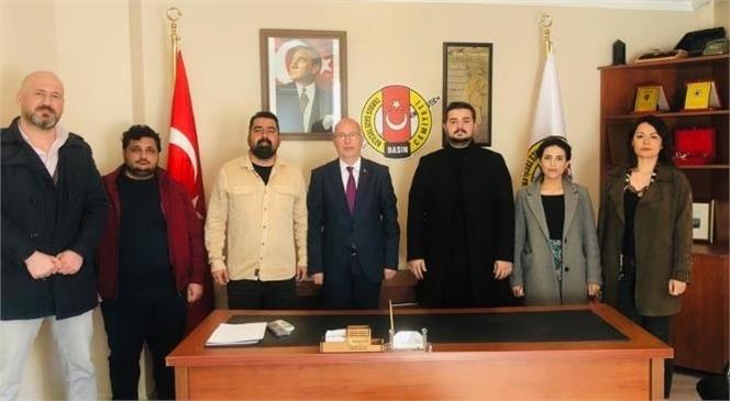 DEVA Partisi Tarsus İlçe Yönetiminden Tarsus Gazeteciler Cemiyetine Nezaket Ziyareti